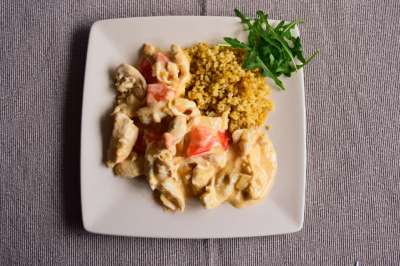 Boros- Zöldséges csirke
