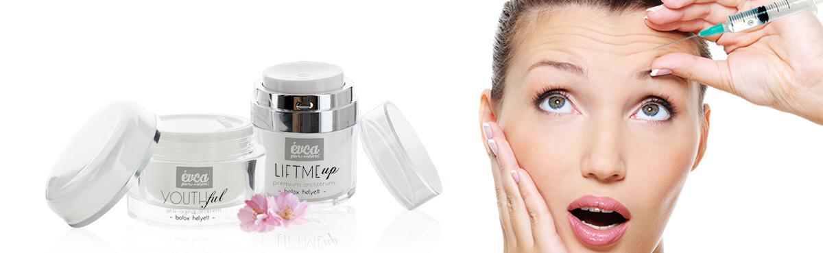 botox hatású natúr arckrém és szérum